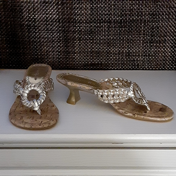 "Hilliard & Hanson Gold "" Ringer"" Sandals"